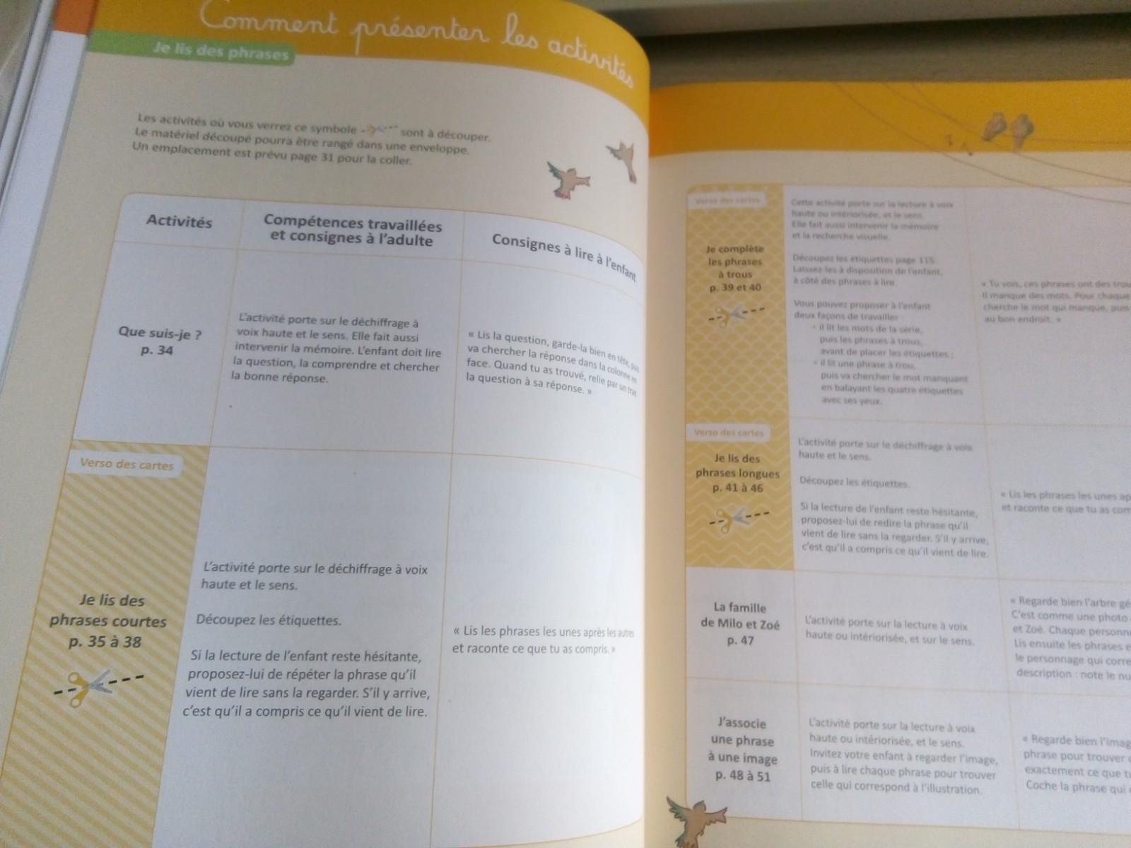 cahier montessori lecture enfants