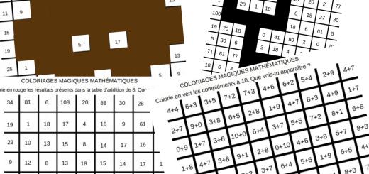 coloriages mathématiques additions