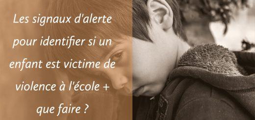 identifier enfant victime violence école