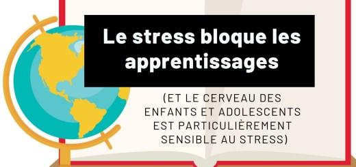 Le stress bloque les apprentissages