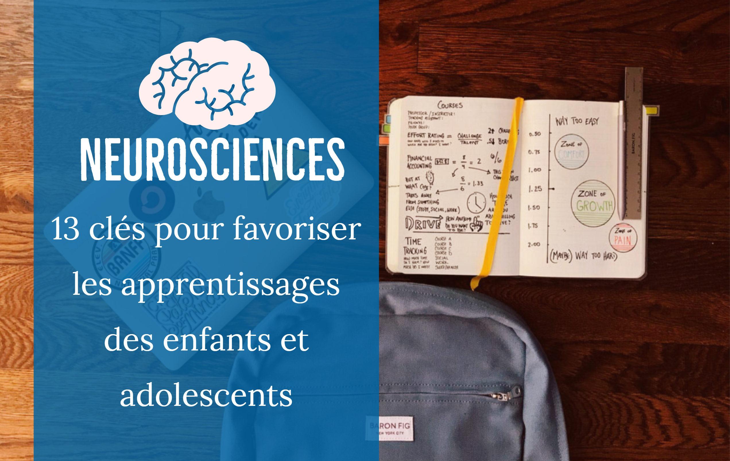 neurosciences favoriser apprentissages