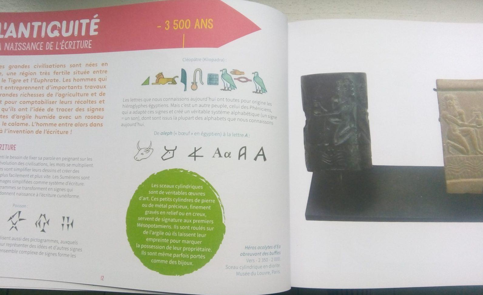 cahier histoire art montessori enfants