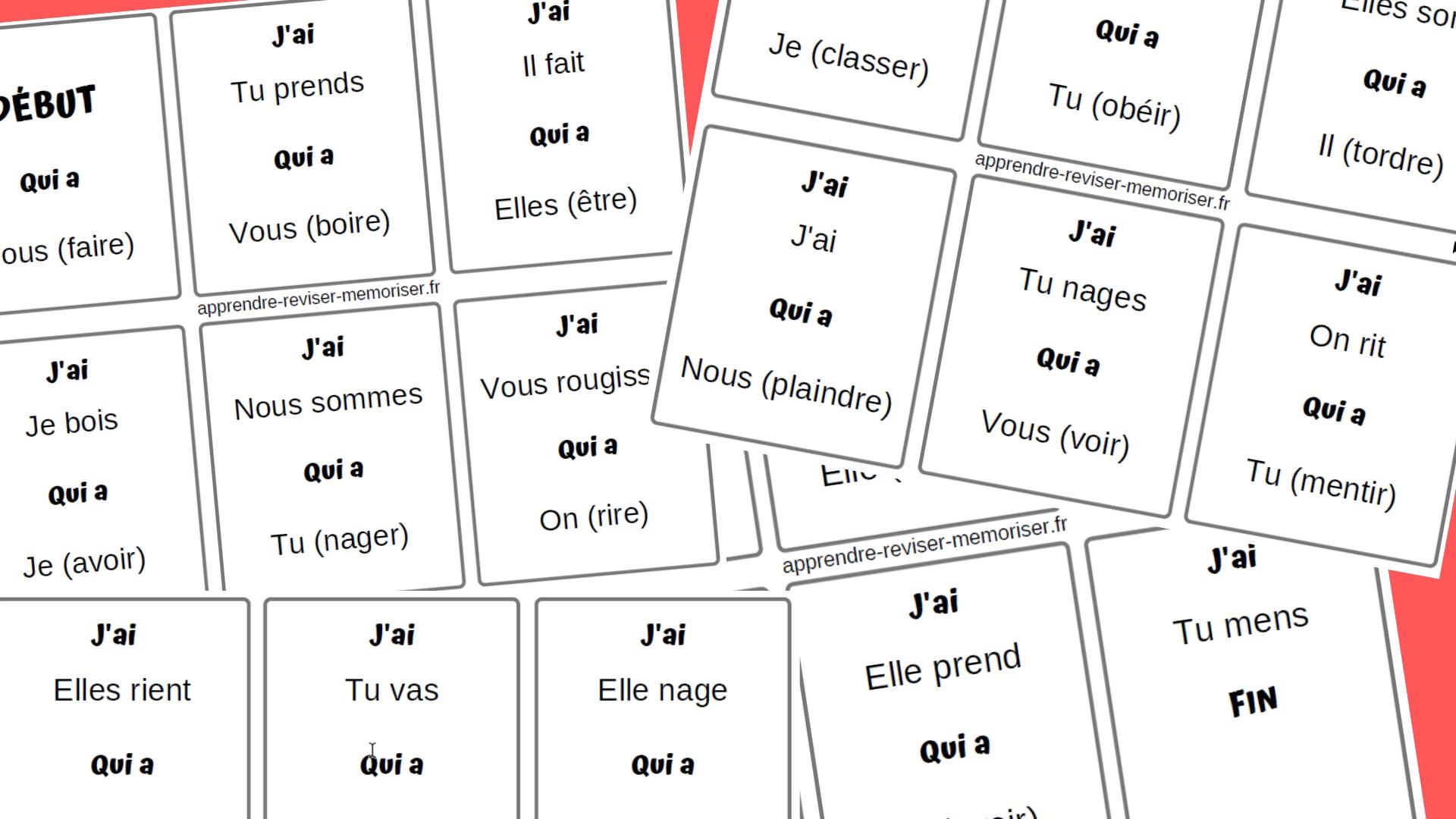Un Jeu Pour Reviser La Conjugaison Des Verbes Au Present J Ai Qui A Apprendre Reviser Memoriser