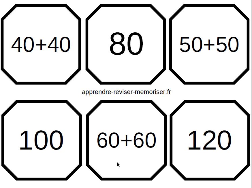 jeu de memory des doubles