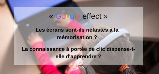 Google effect écran mémorisation
