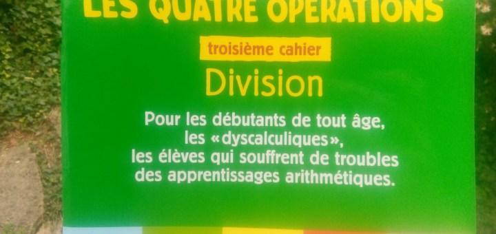 cahier maths division