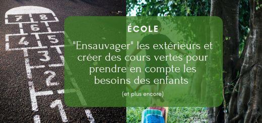 cours écoles vertes nature école