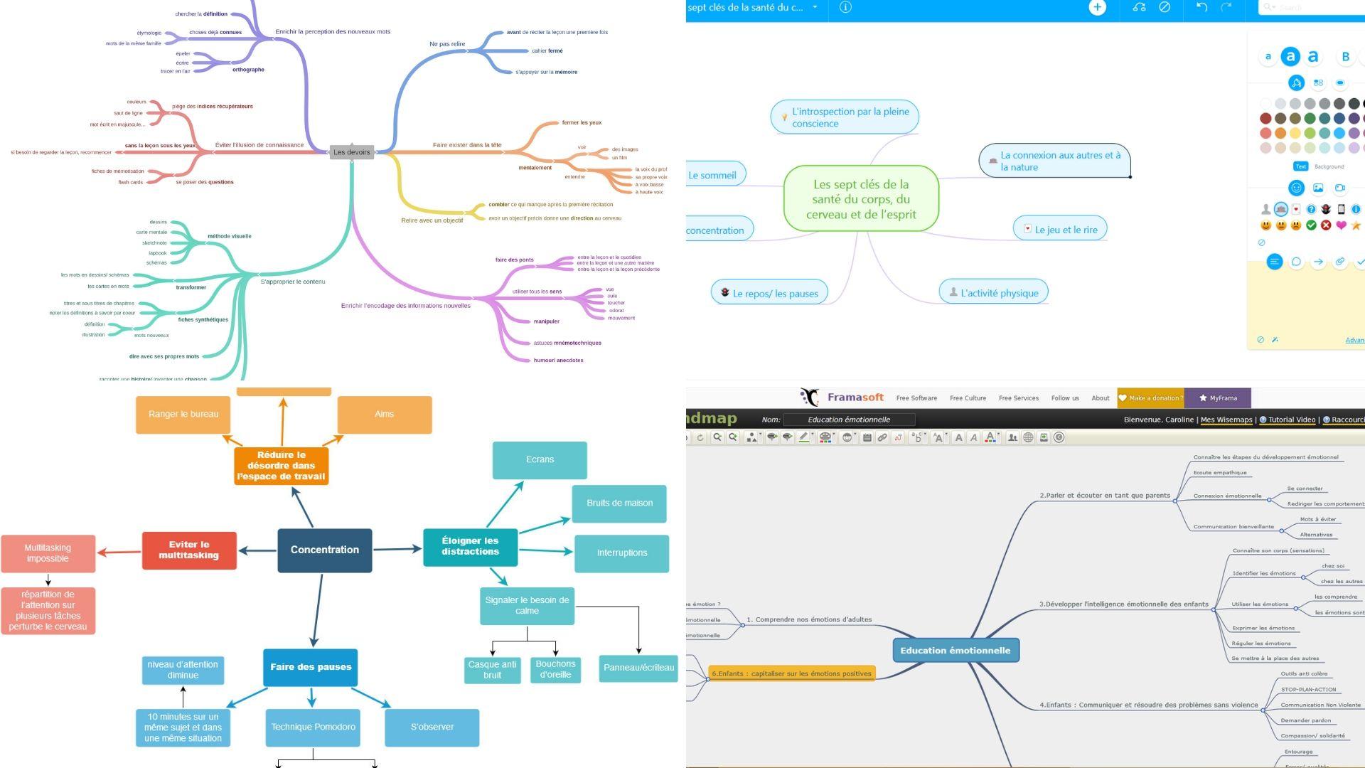 faire une carte mentale en ligne 4 outils pour réaliser des cartes mentales en ligne   Apprendre