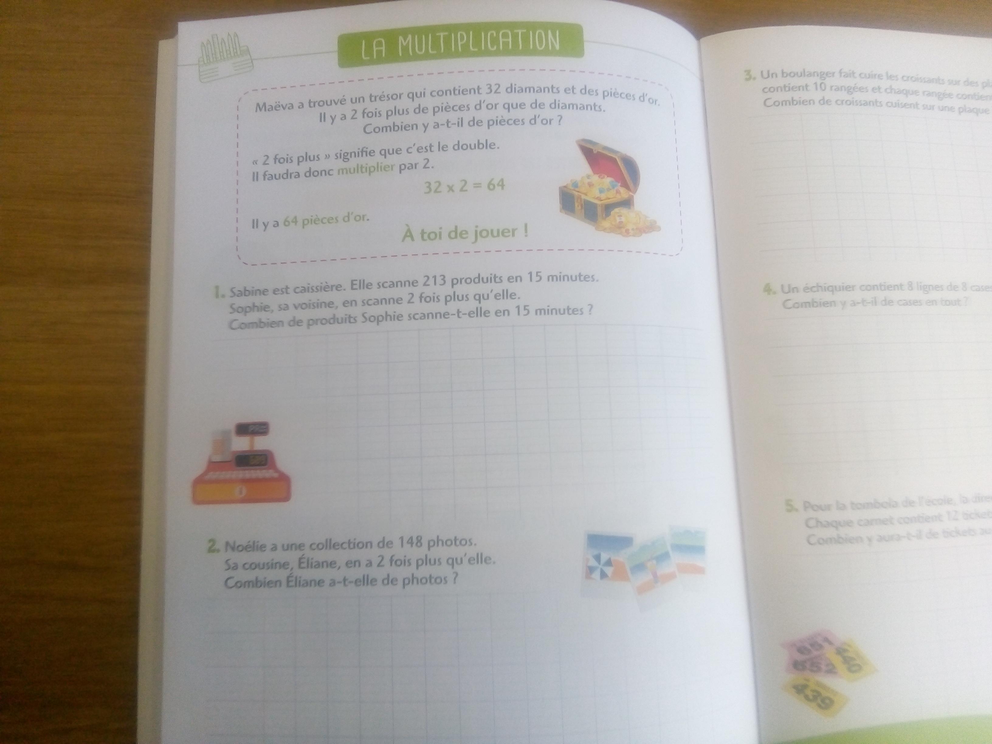 cahier problèmes de mathématiques cm1