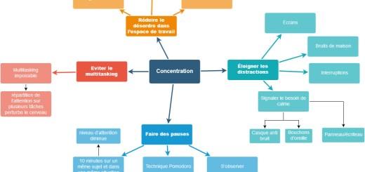 carte mentale concentration