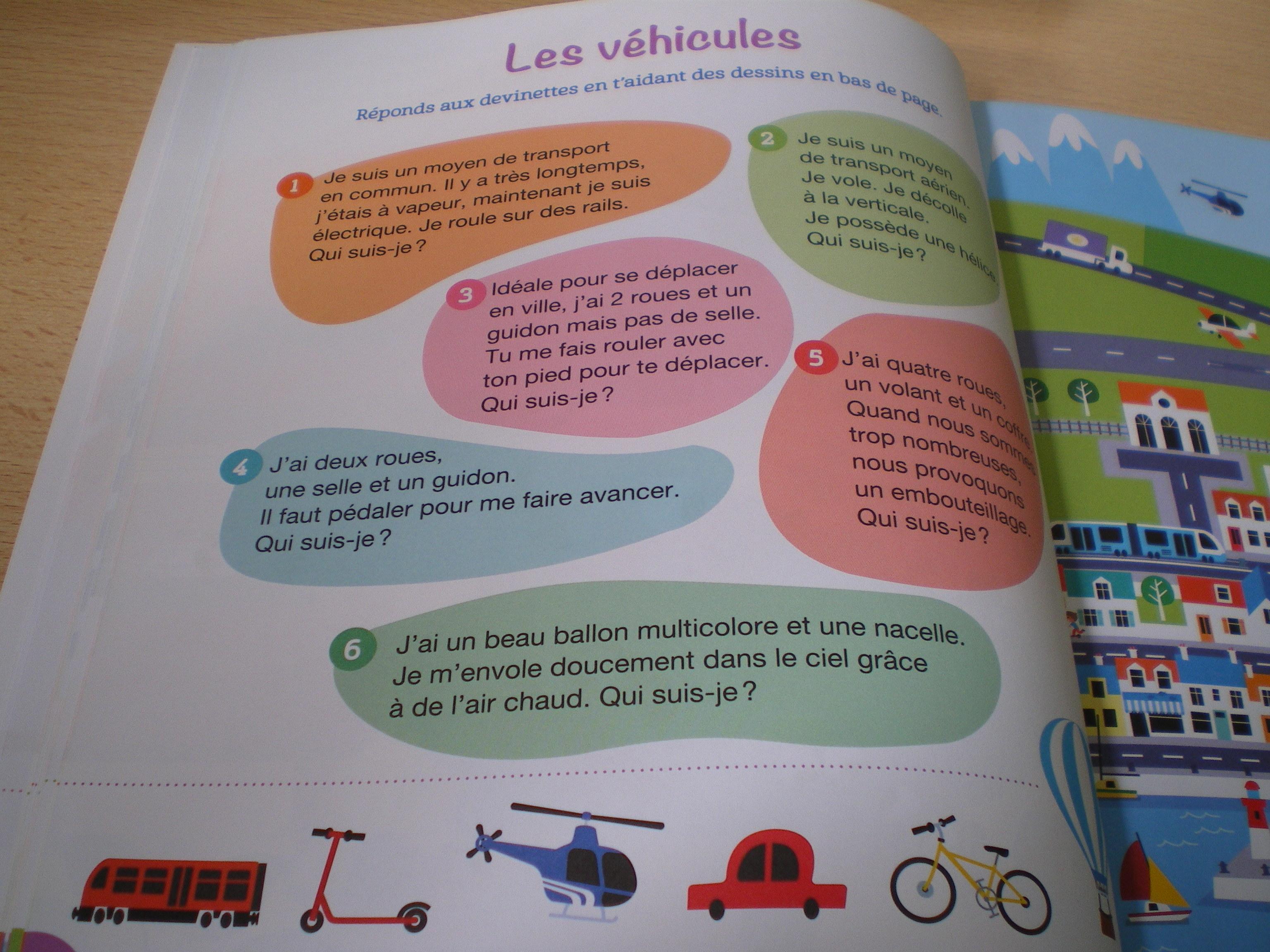 cahier apprendre vocabulaire enfants maternelle