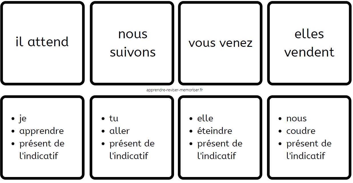 dominos de conjugaison présent