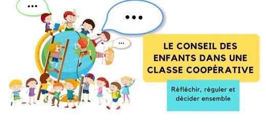 conseil des enfants dans une classe coopérative