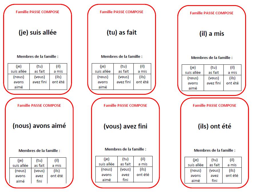 jeu cartes conjugaison