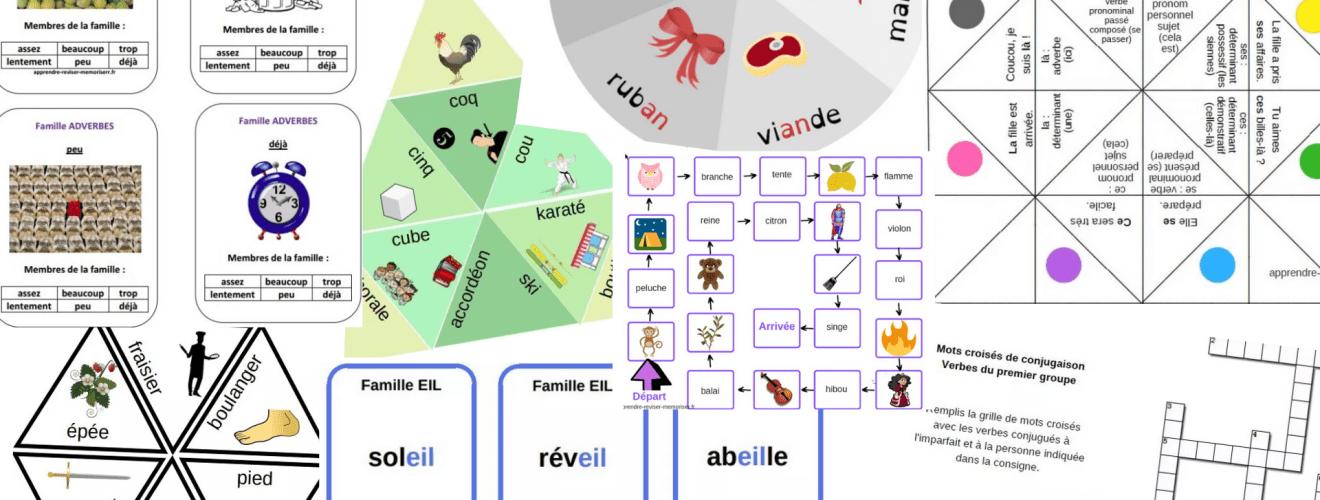 jeux pédagogiques en français classés du CP au CM2