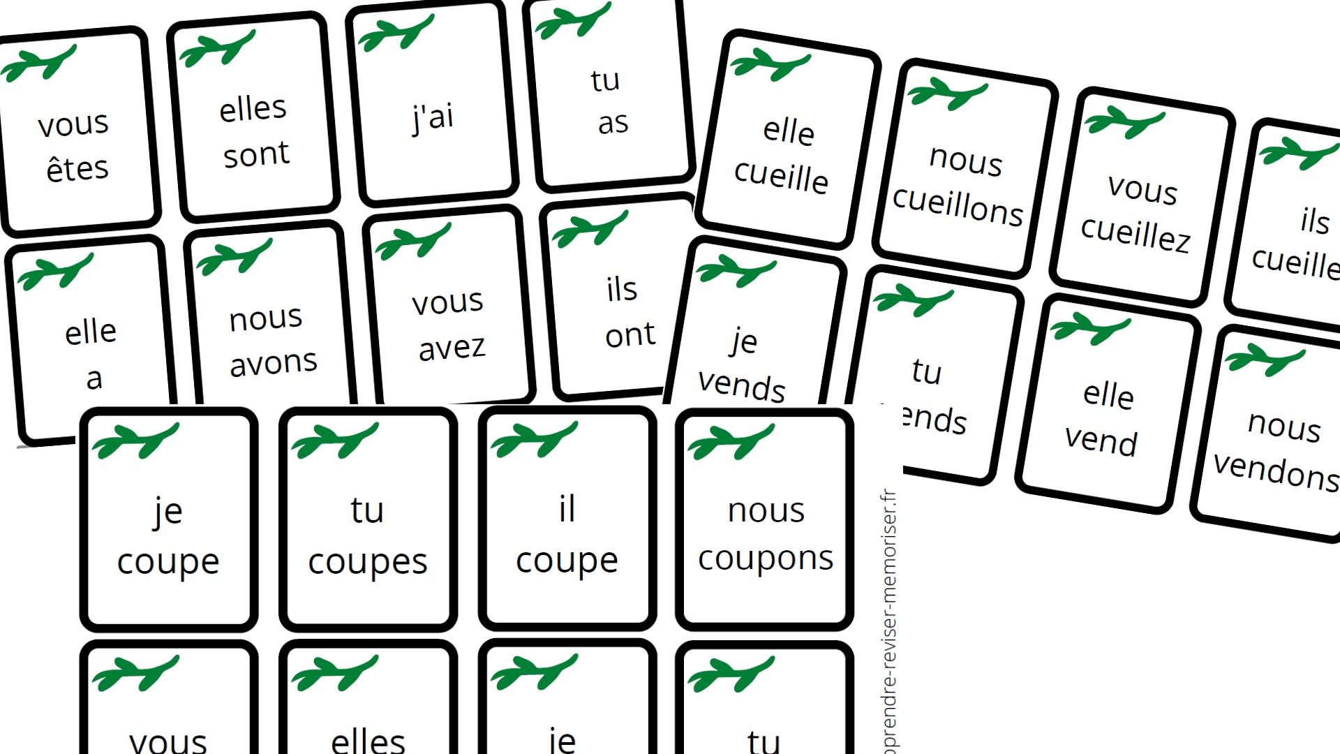 jeu réviser conjugaison présent indicatif