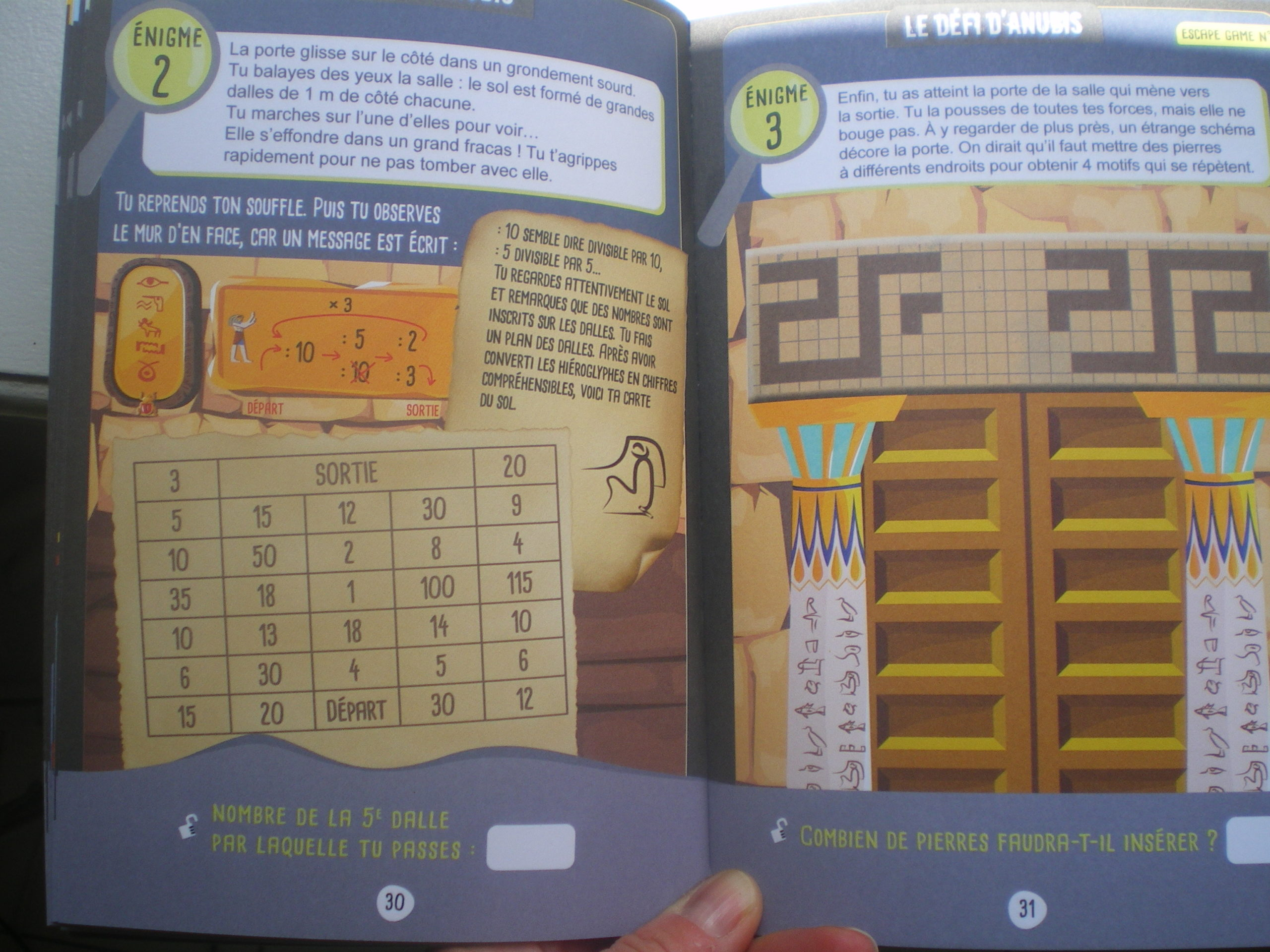 énigmes maths vacances 6eme