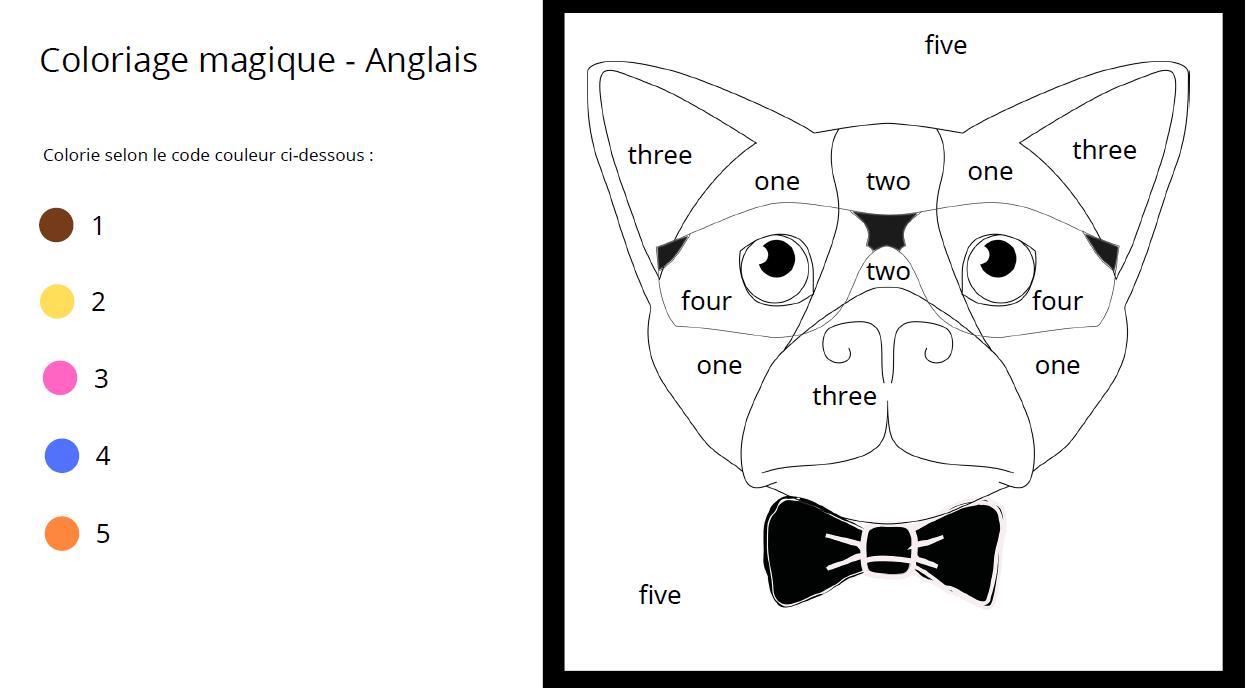 4 Coloriages Magiques En Anglais Pour Apprendre Le Nom Des Nombres Apprendre Reviser Memoriser