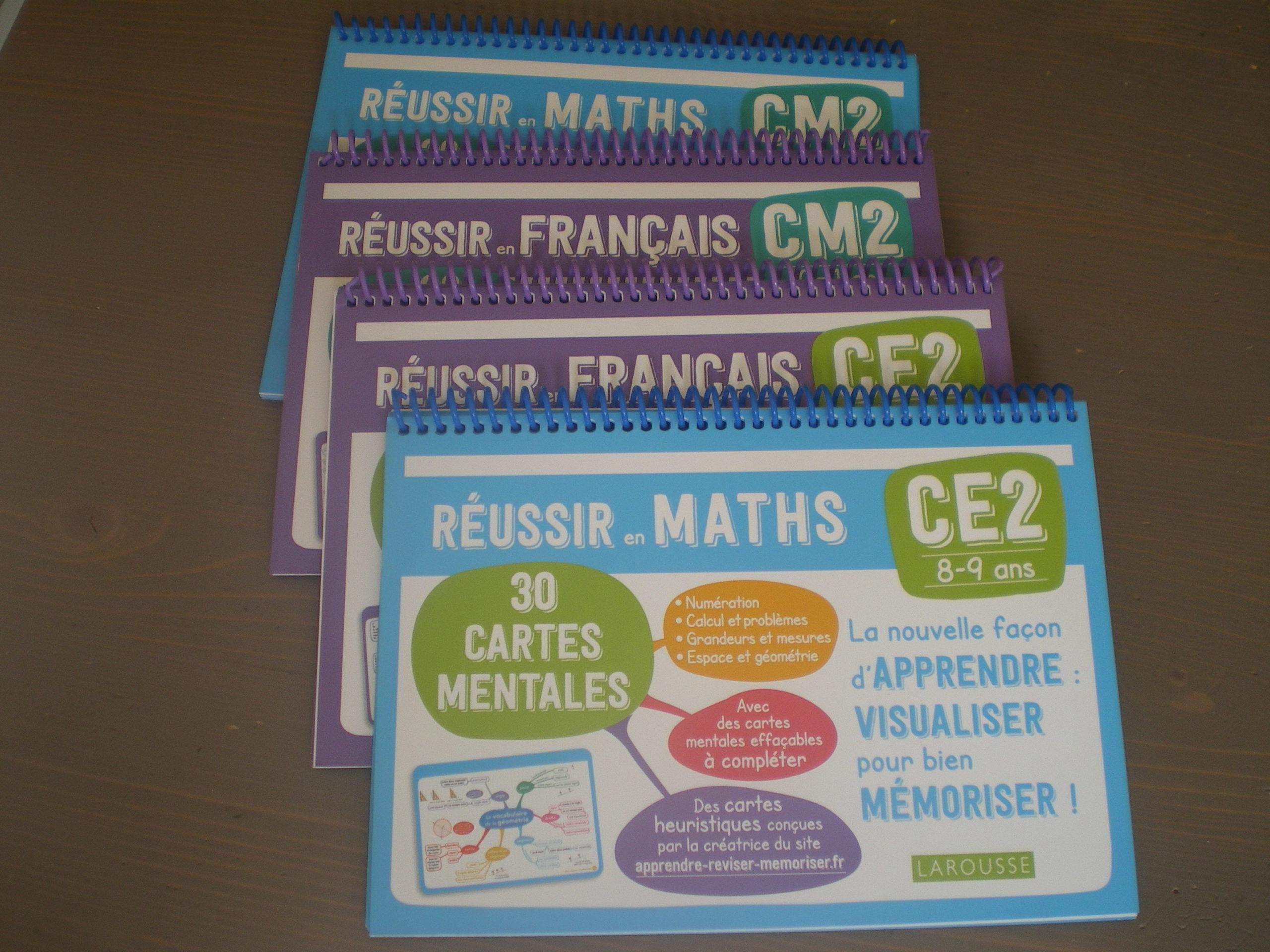 cartes mentales français maths du CE1 au CM2