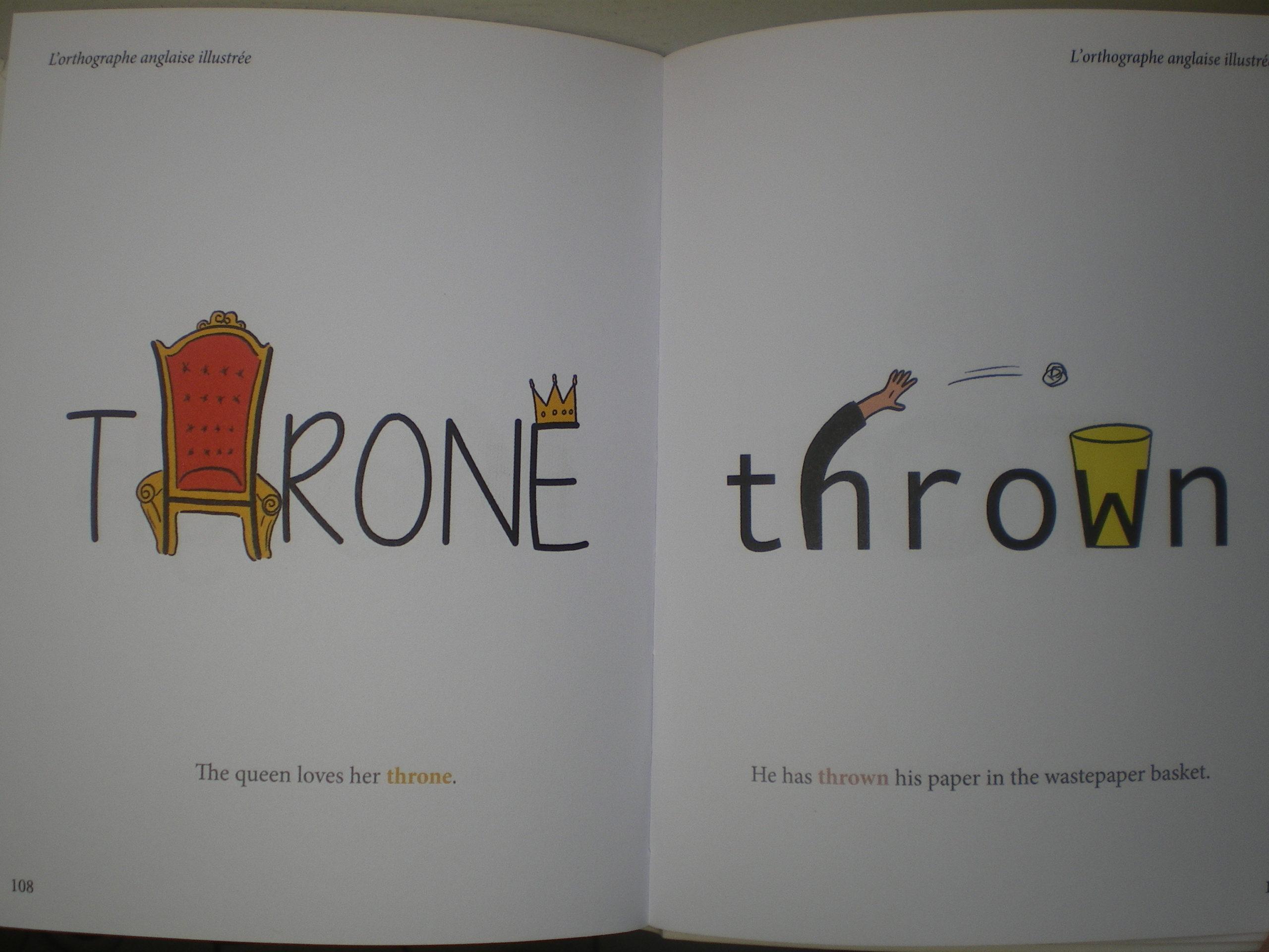 cahier dessins orthographe illustrée anglais