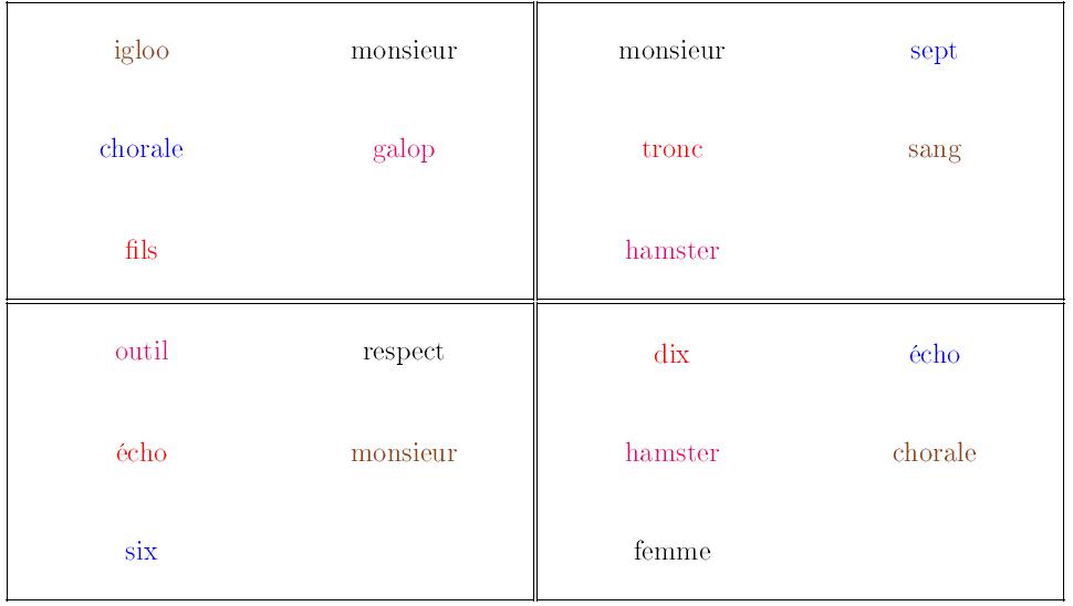 jeu de lecture mots irréguliers fréquents