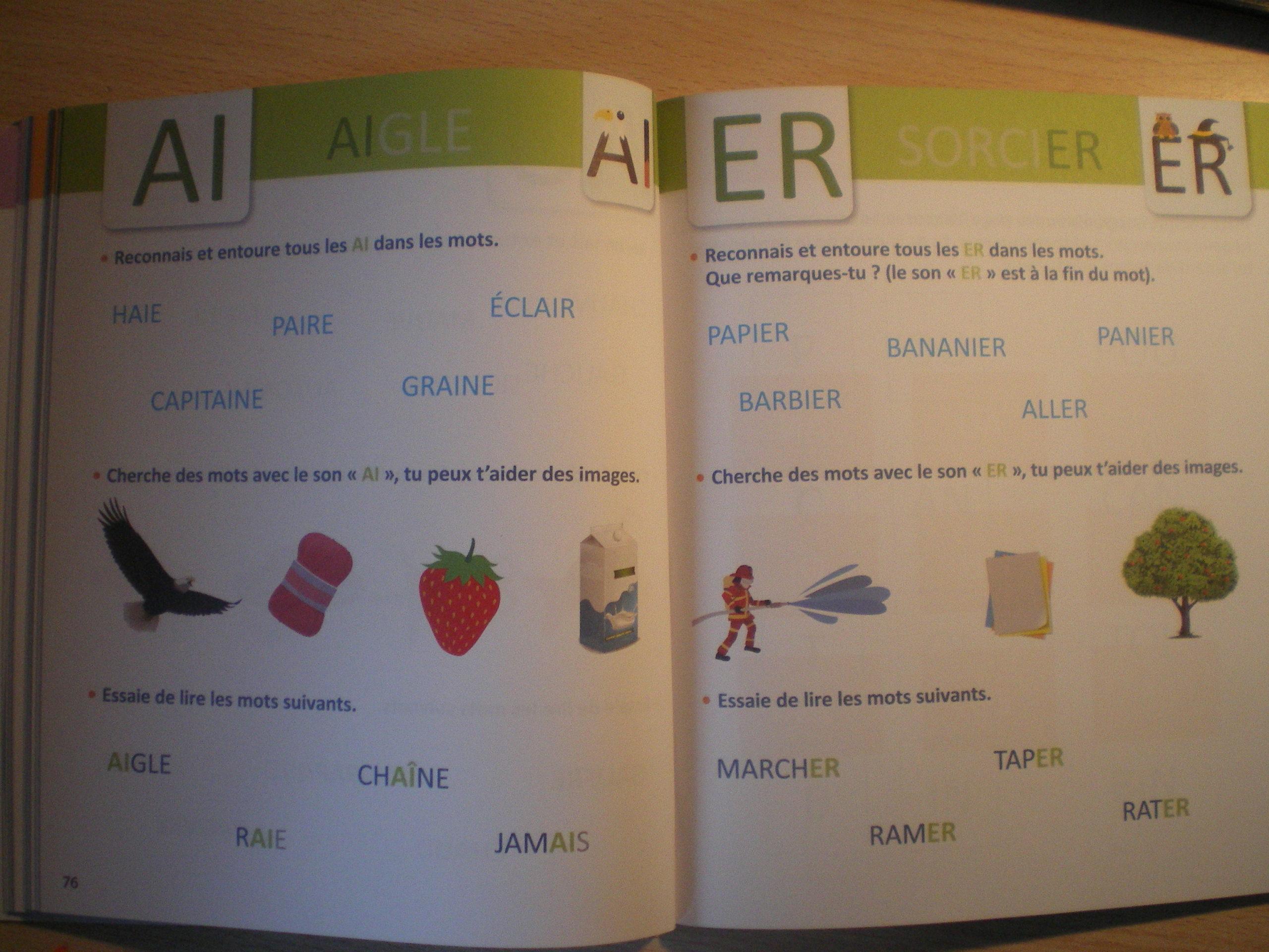 méthode de lecture lettres capitales enfants maternelle