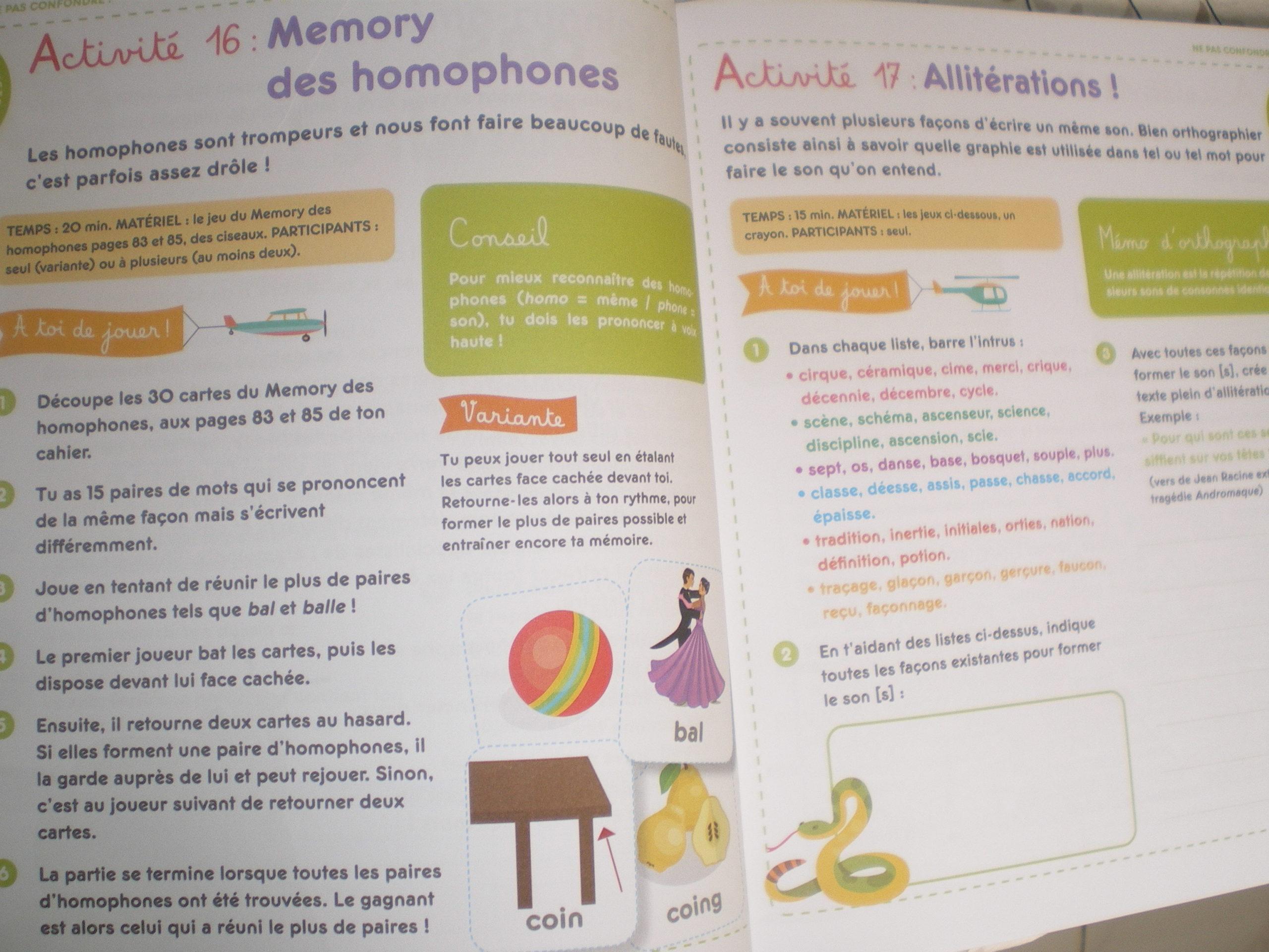 cahier activités bienveillantes progresser orthographe