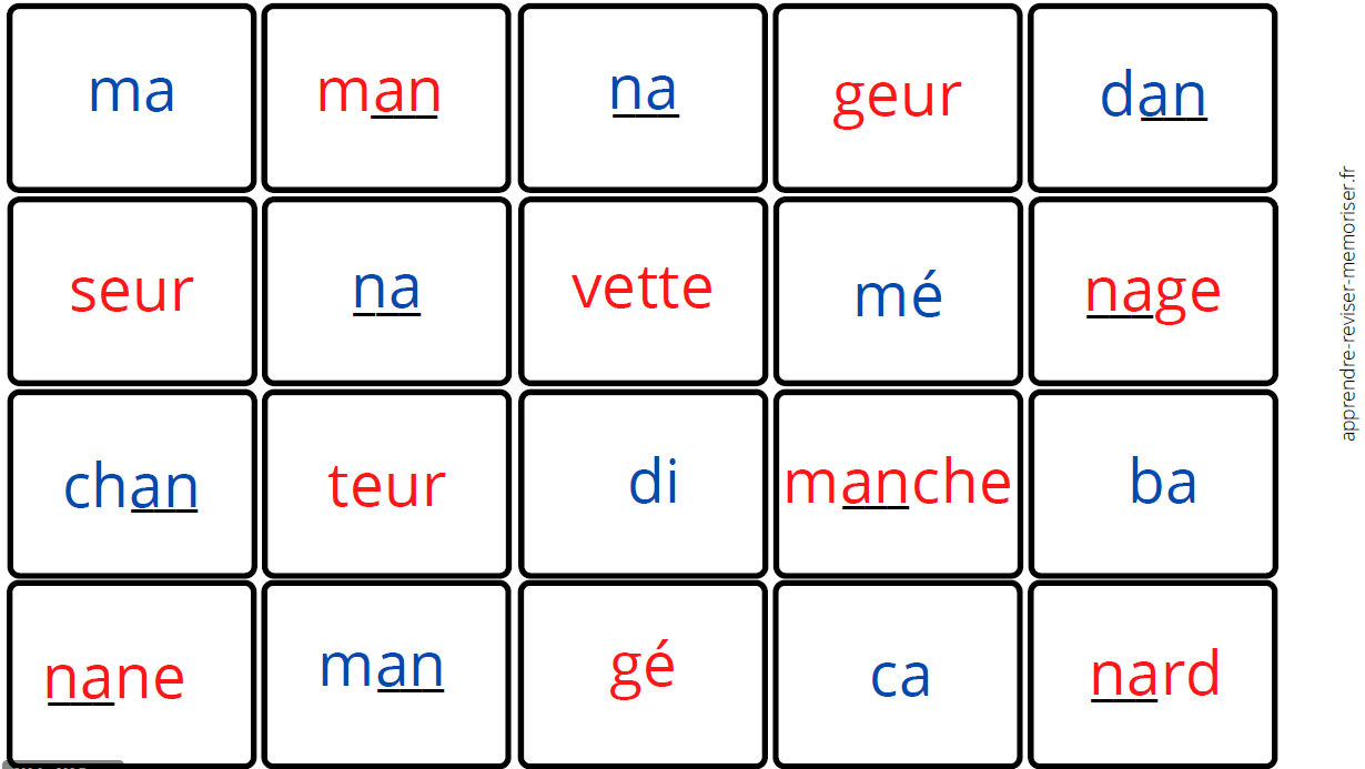 dominos syllabes confusion graphèmes complexes