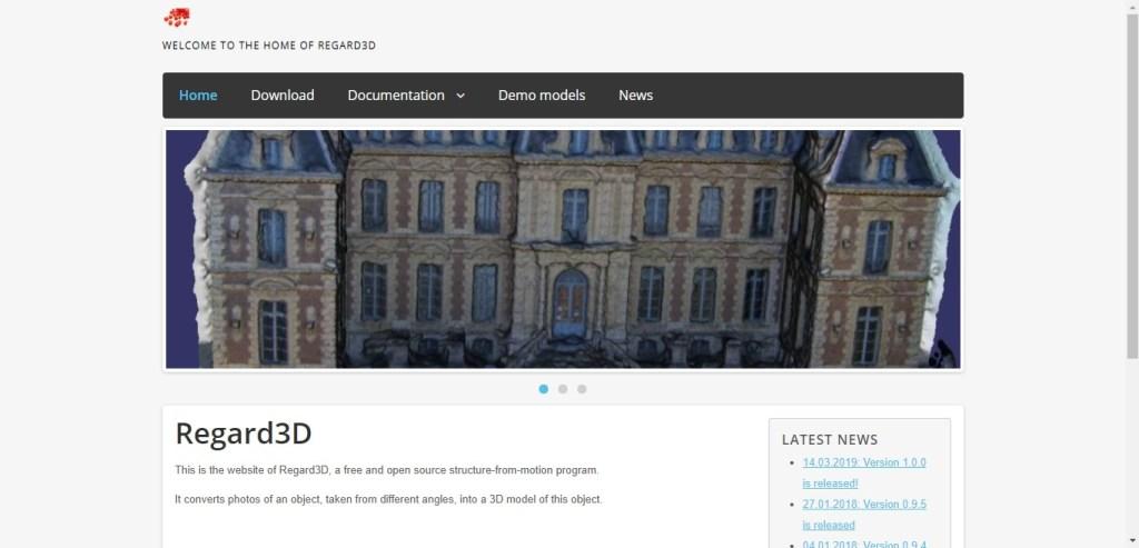 Regard 3D - Appli 3D de photogrammétrie