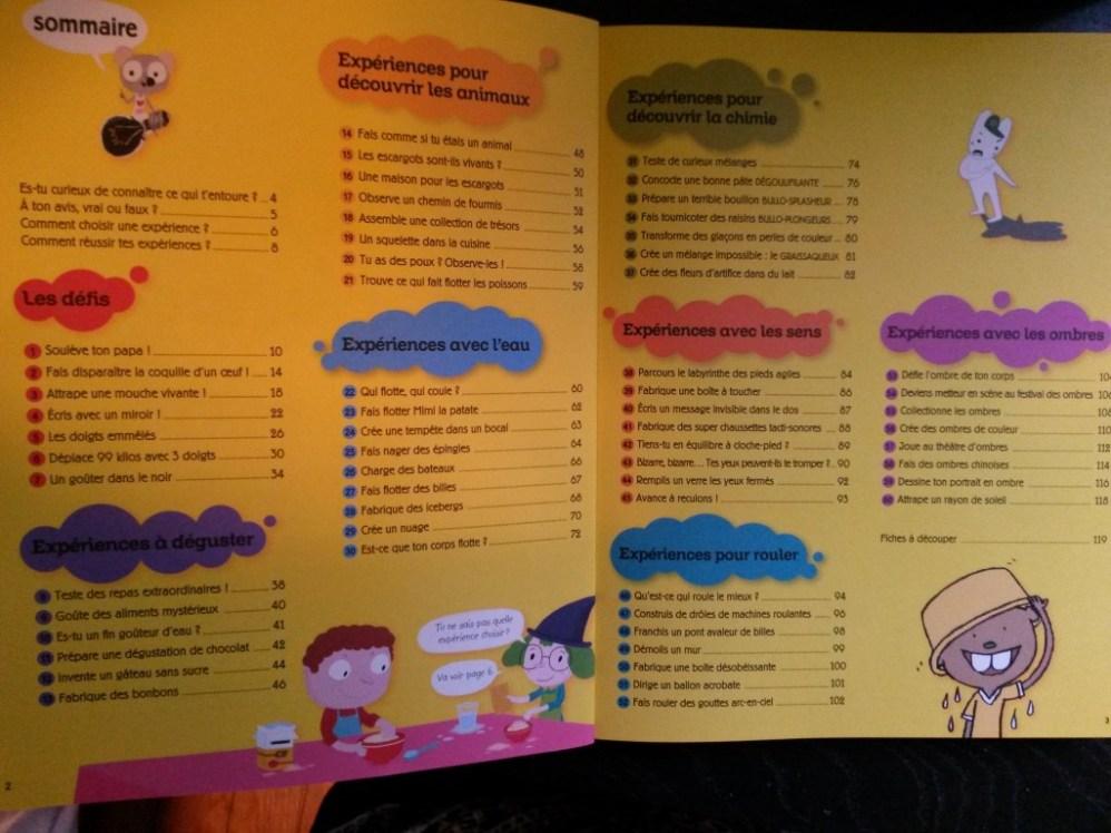 60 expériences pour les enfants