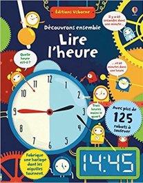 livre pour apprendre à lire l'heure