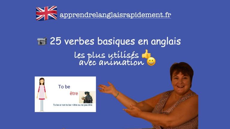25 verbes basiques en anglais