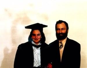 Cérémonie de graduation à Londres avec mon papa.