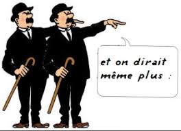 Image des Dupond et Dupont dans Tintin