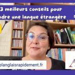 conseils pour apprendre une langue étrangère