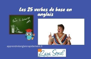 25 verbes en anglais