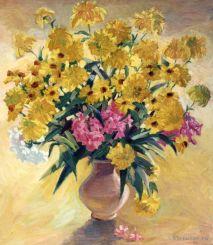 Les boules d'or. 50x60 peinture à l'huile