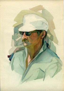 Portrait de mon pére 40x50 aquarelle