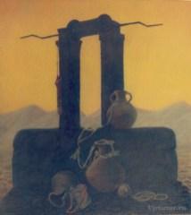 Le Puits. Série sur la terre éternelle 80x90pastel sur carton