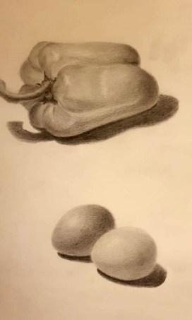 dessiner en volume œufs