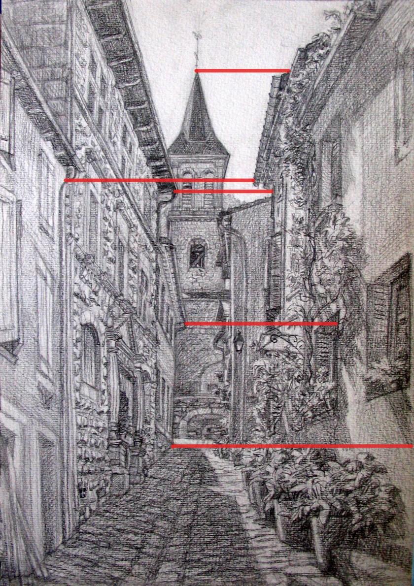 dessiner l'architecture en perspective. Méthode de comparaison