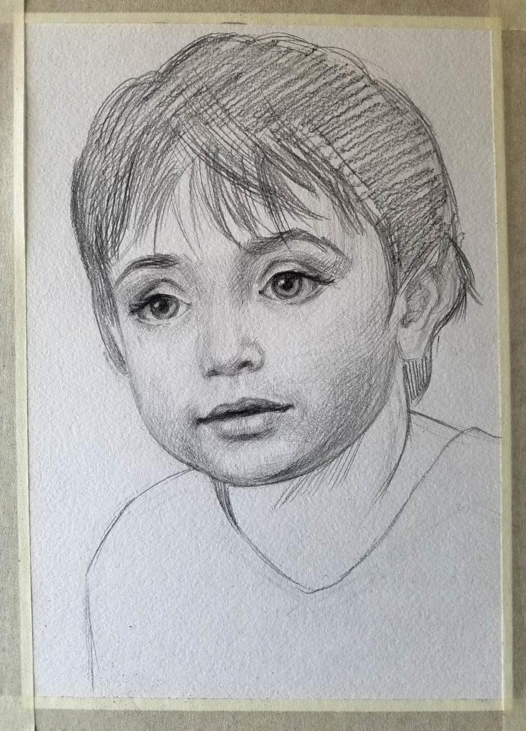 Portrait d'un enfant. Etape 4
