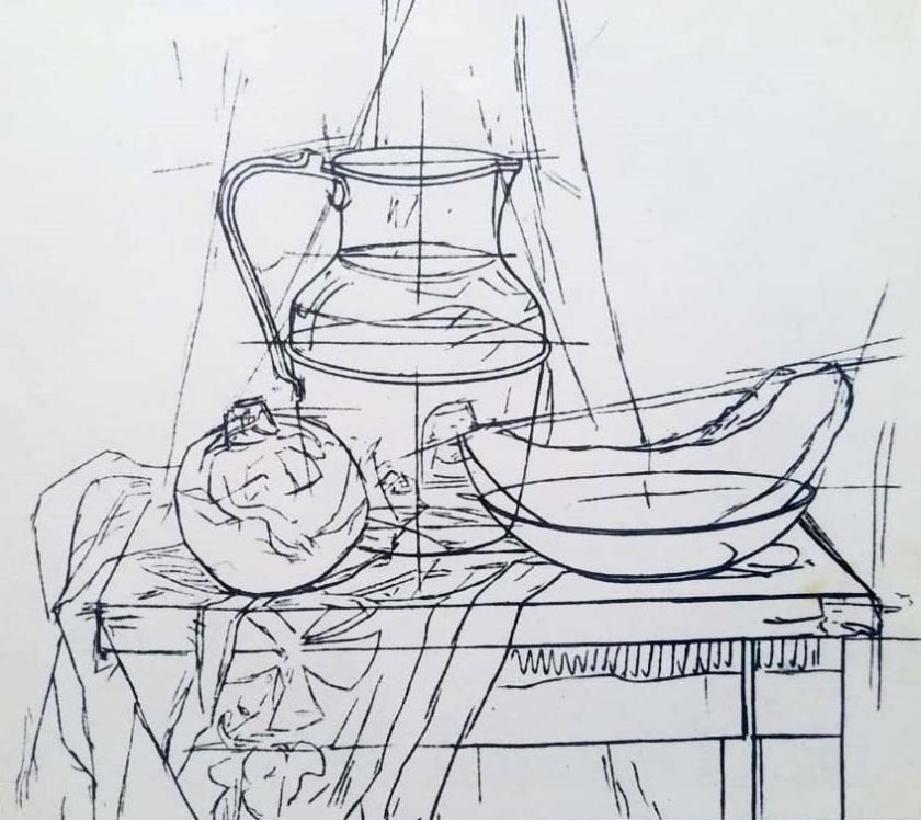Dessin d'une nature morte