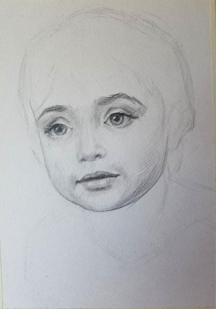 portrait d'un enfant. Le volume