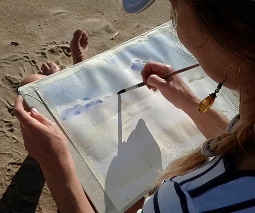 Comment peindre le ciel avec les nuages