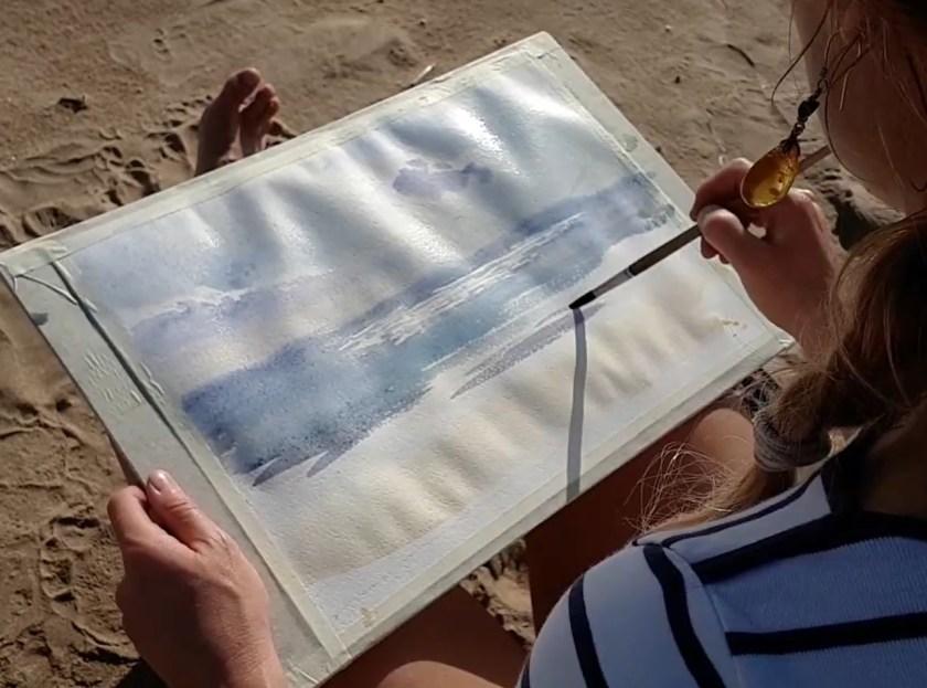 Peindre la mer avec ses reflets