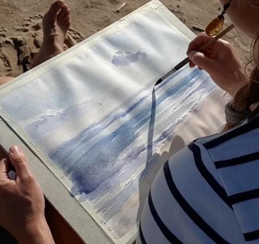 Comment peindre la mer