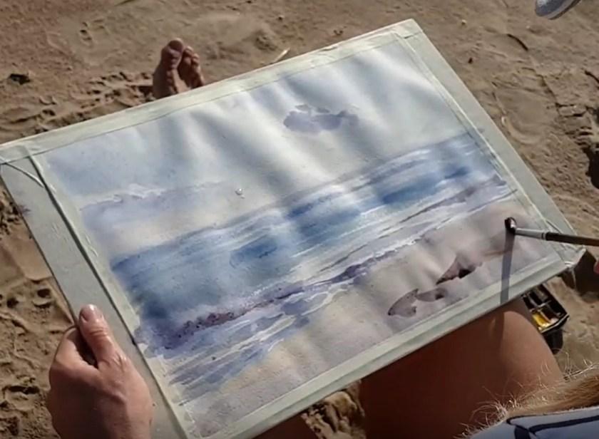 Peindre le sable