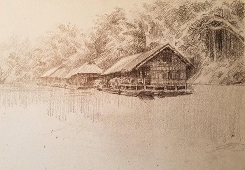 comment dessiner un paysage avec de l'eau