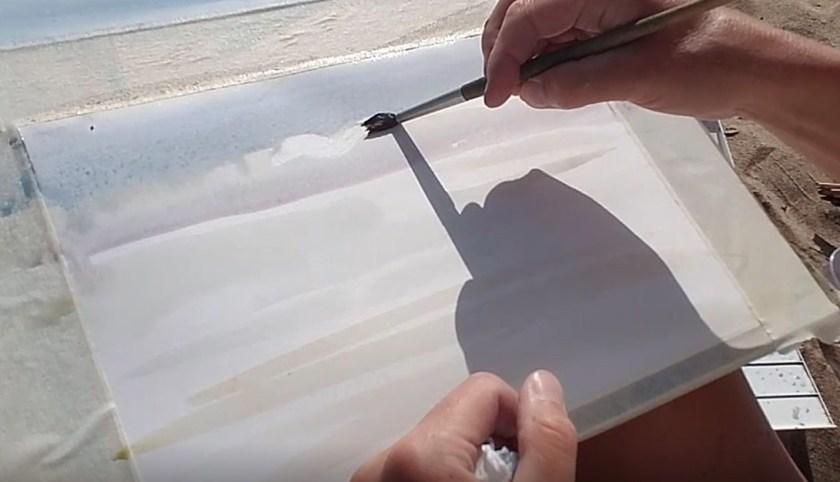 Comment peindre le ciel à l'aquarelle